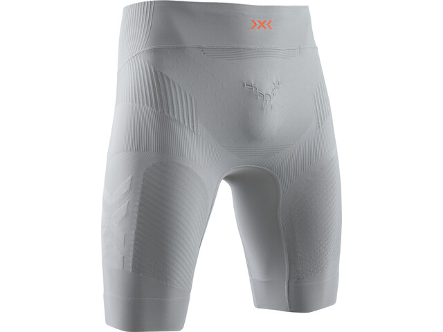 X-Bionic Twyce G2 Pantalones cortos running Hombre, dolomite grey/sunset orange